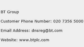 BT Group Phone Number Customer Service
