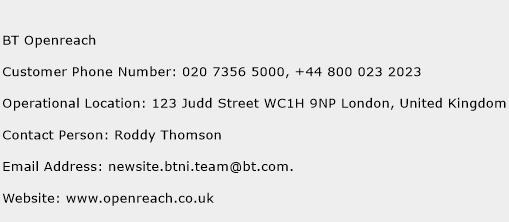 BT Openreach Phone Number Customer Service