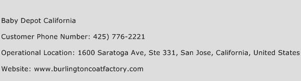 Baby Depot California Phone Number Customer Service