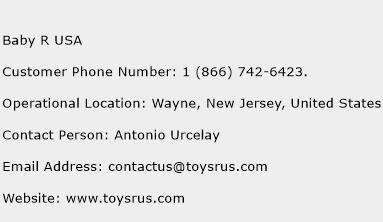 Baby R USA Phone Number Customer Service