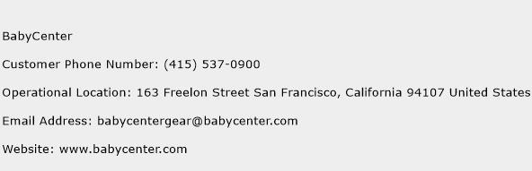 BabyCenter Phone Number Customer Service