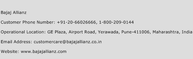 Bajaj Allianz Phone Number Customer Service