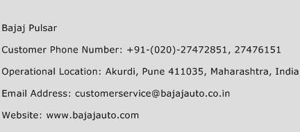 Bajaj Pulsar Phone Number Customer Service