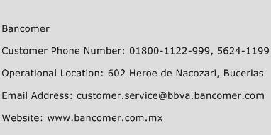 Bancomer Phone Number Customer Service