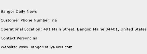 Bangor Daily News Phone Number Customer Service