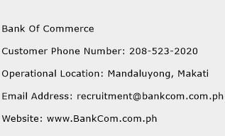 Bank Of Commerce Phone Number Customer Service