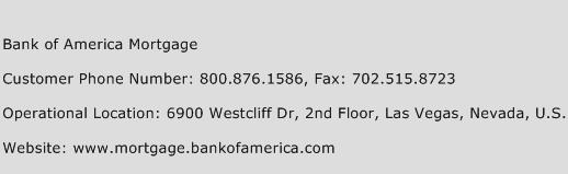 Bank of America Mortgage Customer Service Number | Contact Number ...