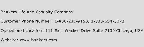 Bankers Life and Casualty Company Customer Service Number ...