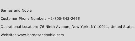 Barnes and Noble Phone Number Customer Service