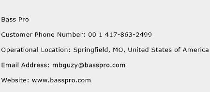 Bass Pro Phone Number Customer Service