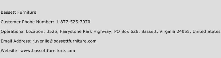 Bassett Furniture Phone Number Customer Service