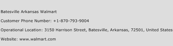 Batesville Arkansas Walmart Phone Number Customer Service