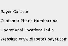 Bayer Contour Phone Number Customer Service