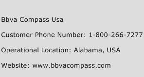Bbva Compass Usa Phone Number Customer Service