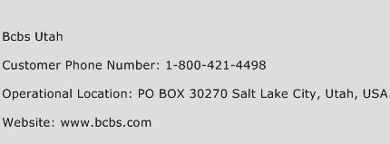 Bcbs Utah Phone Number Customer Service