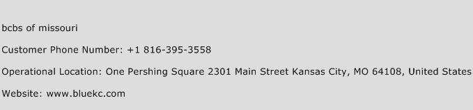 Bcbs of Missouri Phone Number Customer Service