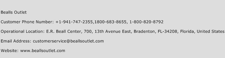 Bealls Outlet Phone Number Customer Service