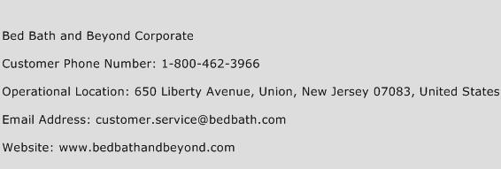Bed Bath and Beyond Corporate Phone Number Customer Service