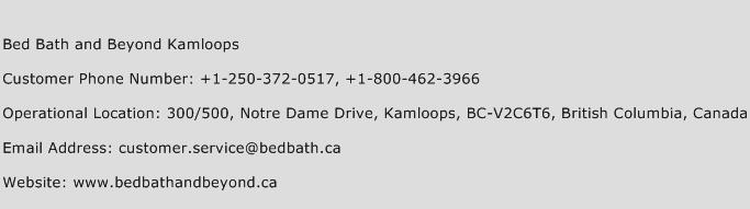 Bed Bath and Beyond Kamloops Phone Number Customer Service