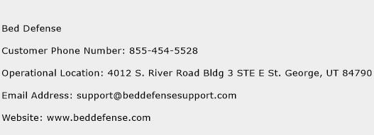 Bed Defense Phone Number Customer Service