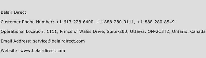 Belair Direct Phone Number Customer Service