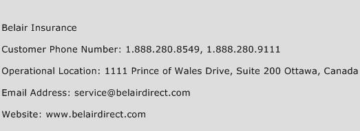 Belair Insurance Phone Number Customer Service
