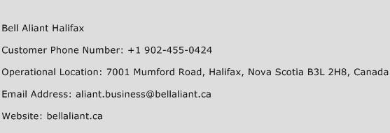 Bell Aliant Halifax Phone Number Customer Service