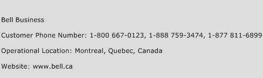 Bell Business Phone Number Customer Service