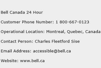 Bell Canada 24 Hour Phone Number Customer Service
