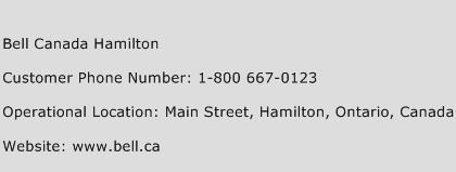 Bell Canada Hamilton Phone Number Customer Service