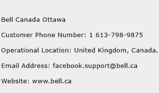 Bell Canada Ottawa Phone Number Customer Service