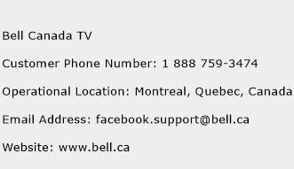 Bell Canada TV Phone Number Customer Service