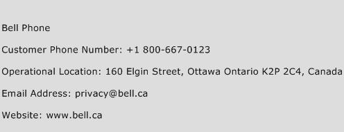 Bell Phone Phone Number Customer Service
