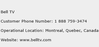 Bell TV Phone Number Customer Service