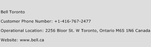 Bell Toronto Phone Number Customer Service