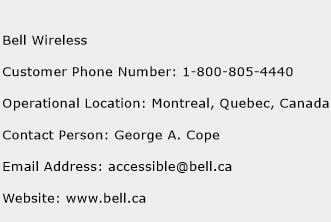 Bell Wireless Phone Number Customer Service