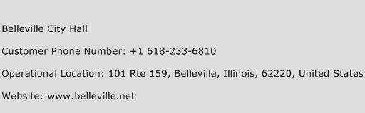 Belleville City Hall Phone Number Customer Service