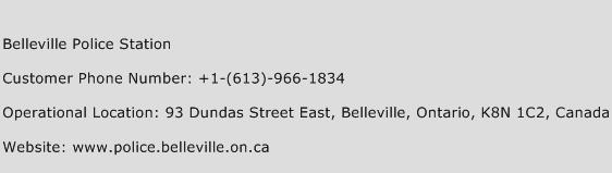 Belleville Police Station Phone Number Customer Service