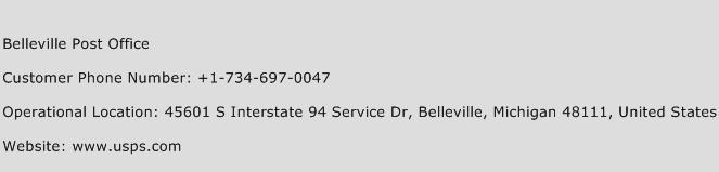 Belleville Post Office Phone Number Customer Service