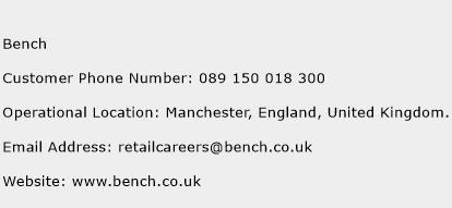Bench Phone Number Customer Service