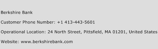 Berkshire Bank Phone Number Customer Service