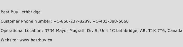 Best Buy Lethbridge Phone Number Customer Service