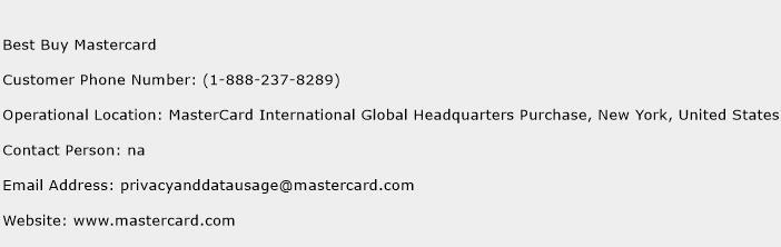 Best Buy Mastercard Phone Number Customer Service