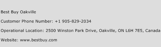 Best Buy Oakville Phone Number Customer Service