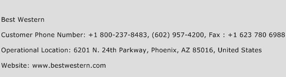 Best Western Phone Number Customer Service