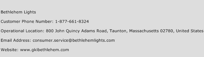 Bethlehem Lights Phone Number Customer Service