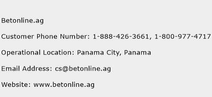 Betonline.ag Phone Number Customer Service
