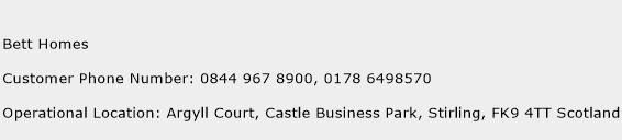 Bett Homes Phone Number Customer Service