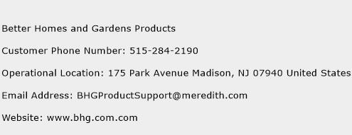 Better Homes And Gardens Products Phone Number Customer Service