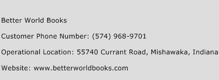 Better World Books Phone Number Customer Service